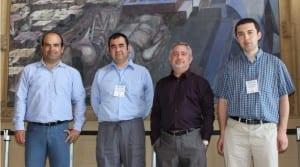 Manuel Ujaldón (izquierda) junto con otros expertos en computación iberoamericanos