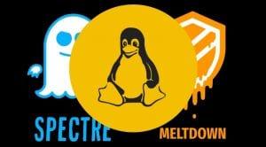 Meltdown y Spectre logo con parche Linux