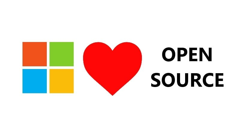 Microsoft logo love Open Source