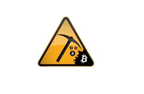 Señal de minería de Bitcoins