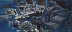 Portada de Mission Critical con nave espacial abandonada