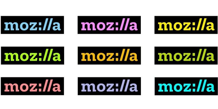 Mozilla logos en colores