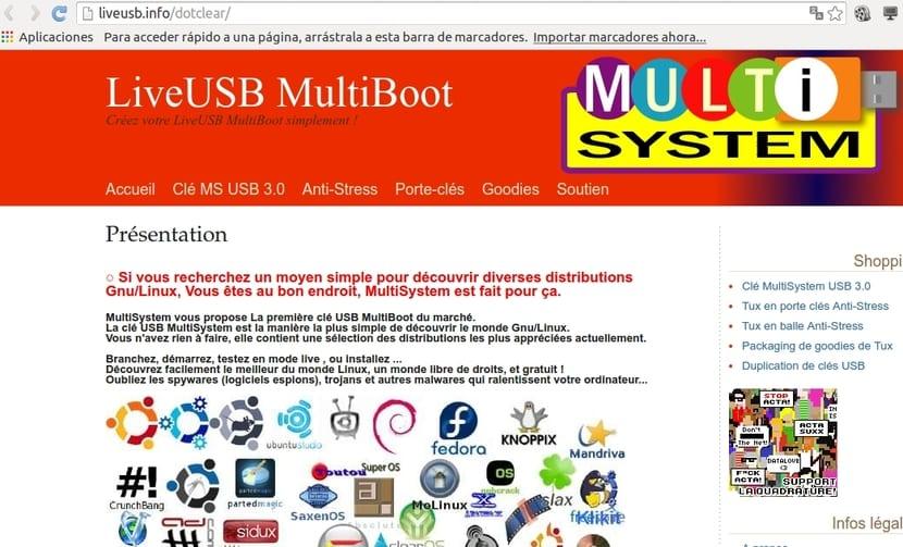 Web oficial de Multiboot