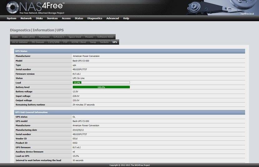 NAS4Free WebGUI