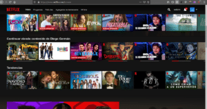 Sitio web de Netflix
