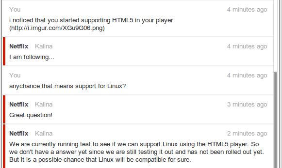 netflix html5 linux