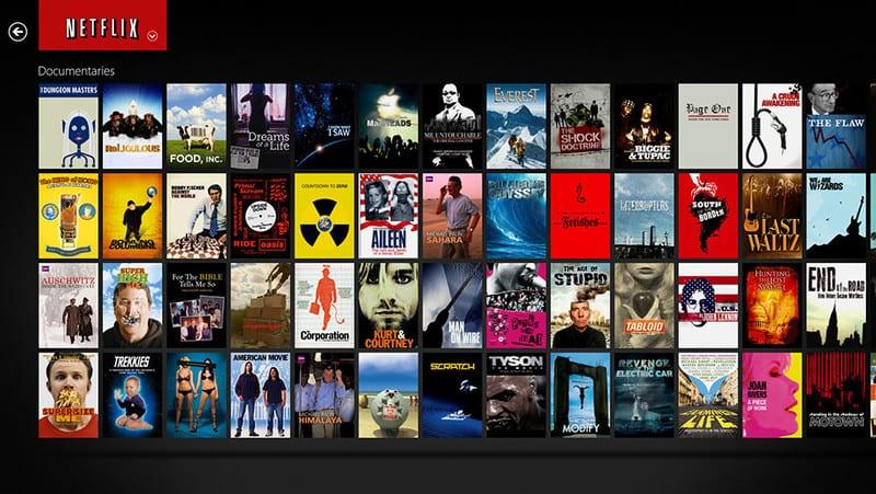 Netflix pantalla