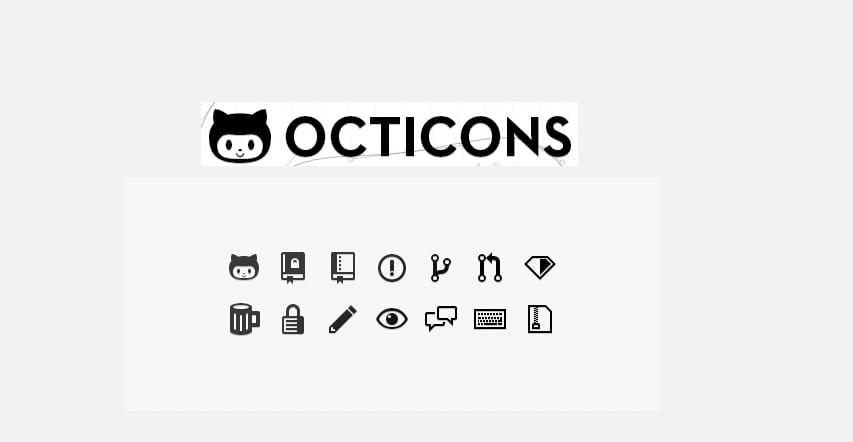 Octicons de Github apariencia