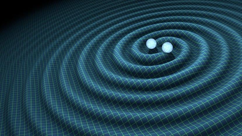 Ondas gravitacionales representadas