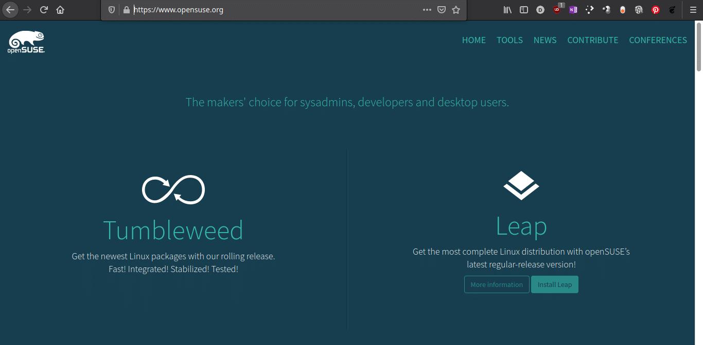 Breve historia de openSUSE