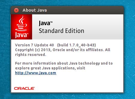 Java 7 u40