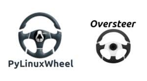 logos de Oversteer y pyLinuxWheel