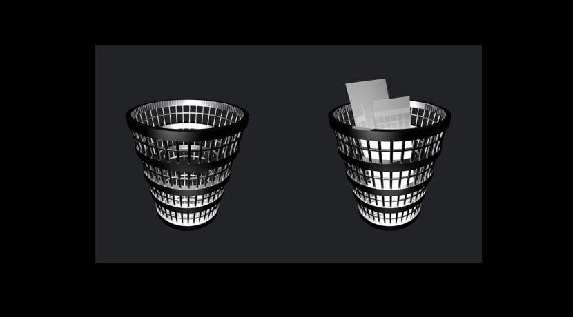 papelera reciclaje o trashcan