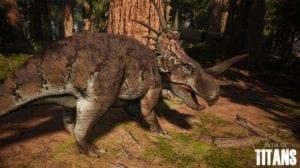 Path of TItans captura de pantalla de dinosaurio
