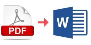 PDF a Word iconos
