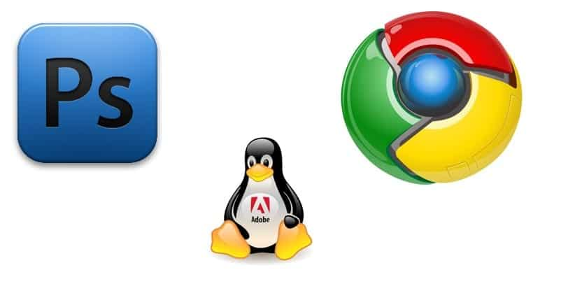 Logo de Photoshop, Chrome y Tux