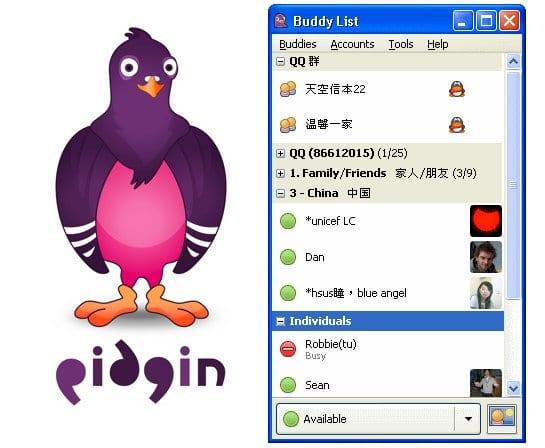 Pidgin, programa de mensajería instantánea para Linux