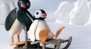 Pingu en trineo