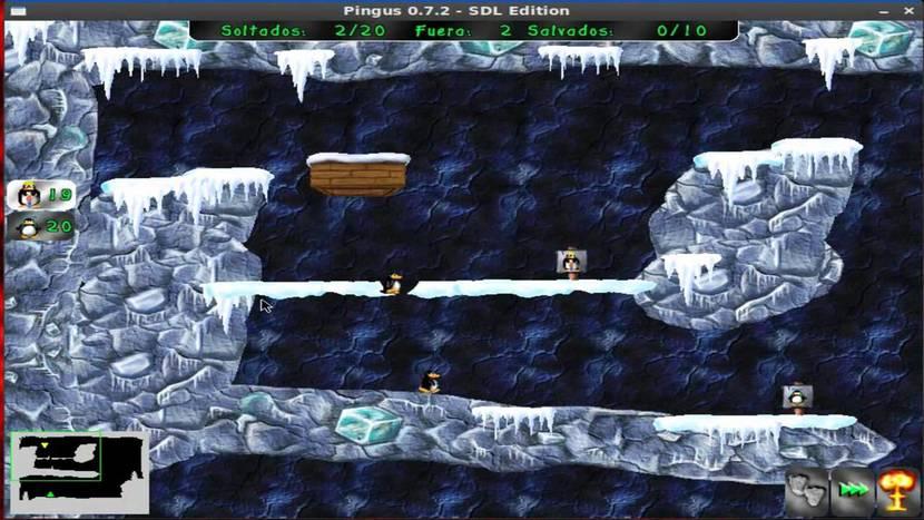 Pingus: captura de pantalla