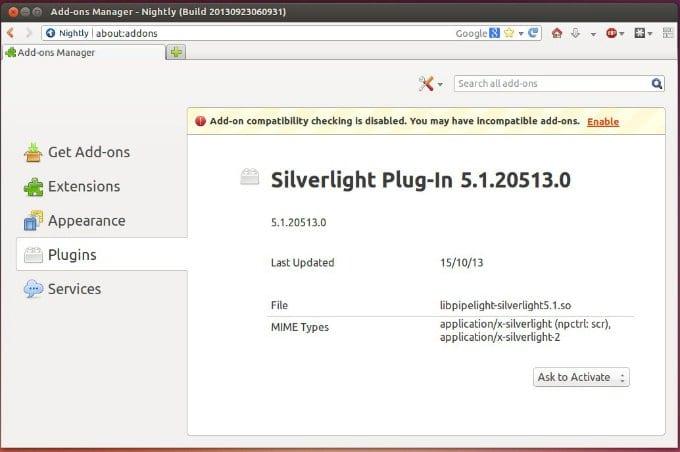 pipelight silverlight linux