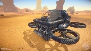 Captura de pantalla de un vehículo de Planet Nomads