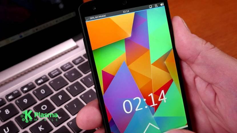 PLasma Mobile en un smartphone