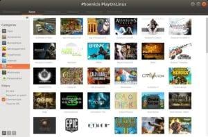 PlayOnLinux nueva interfaz