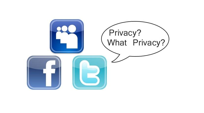 Privacidad logos redes sociales famosas