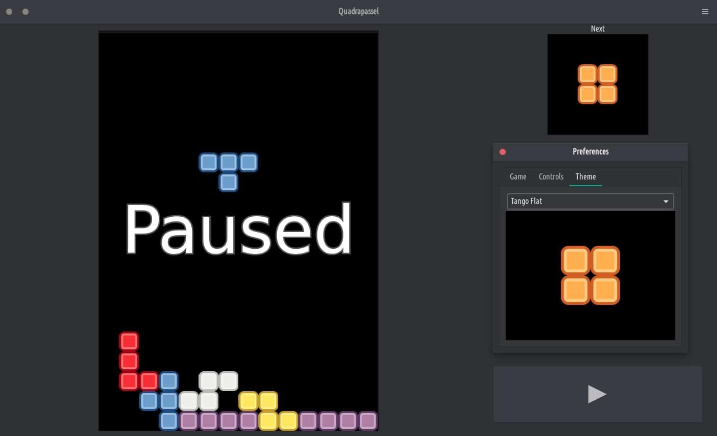 Quadrapassel Tetris Linux