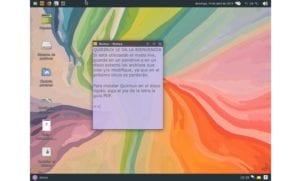 quirinux: captura de pantalla
