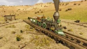 Captura de pantalla de tren en Rail way Empire