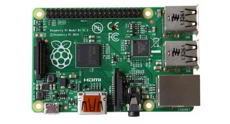 Aspecto de la Raspberry Pi B+