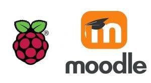 Moodle y Rasbian Logos