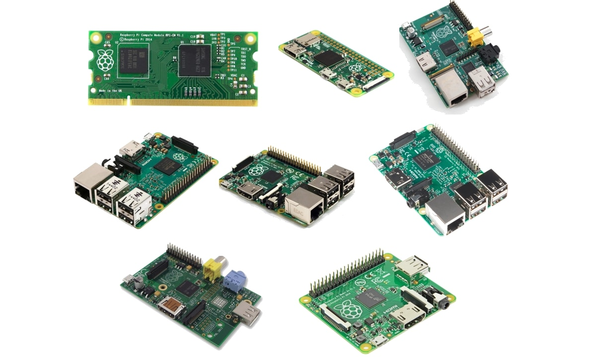 Raspberry Pi versiones