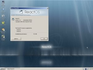 ReactOS escritorio