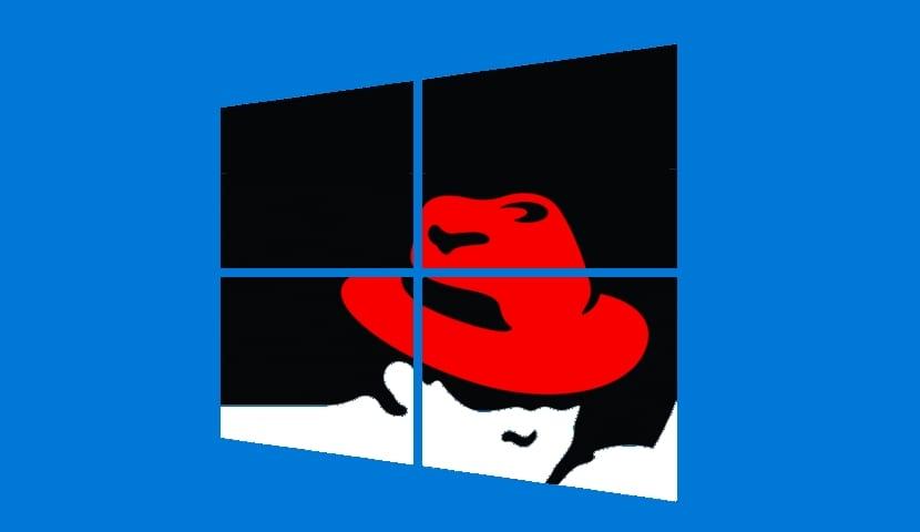 Red Hat logo y Windows logo