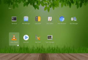 Captura de pantalla de Slax 9.5