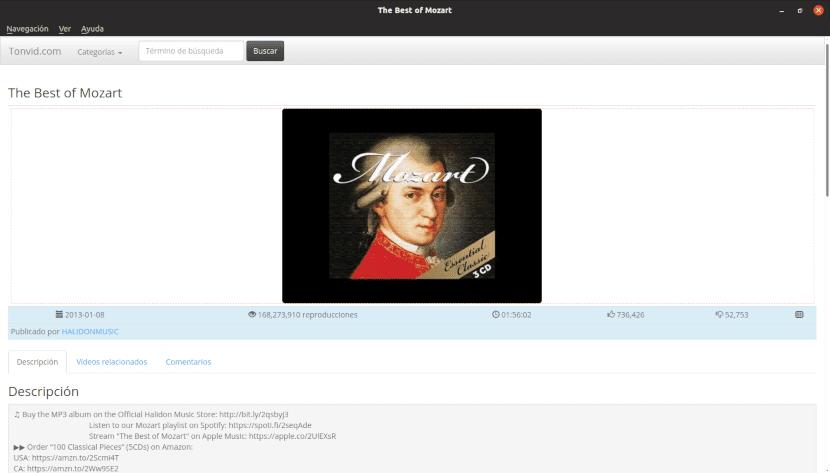 Captura de pantalla de la herramienta SMTube