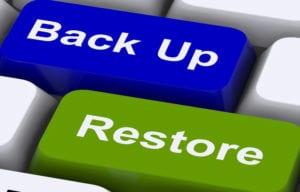 Backup y Restore botones