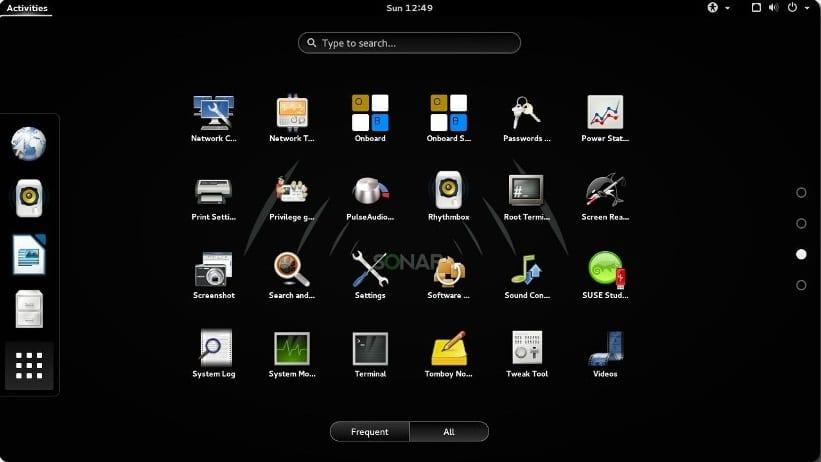Interfaz gráfica Sonar Linux 2014.1