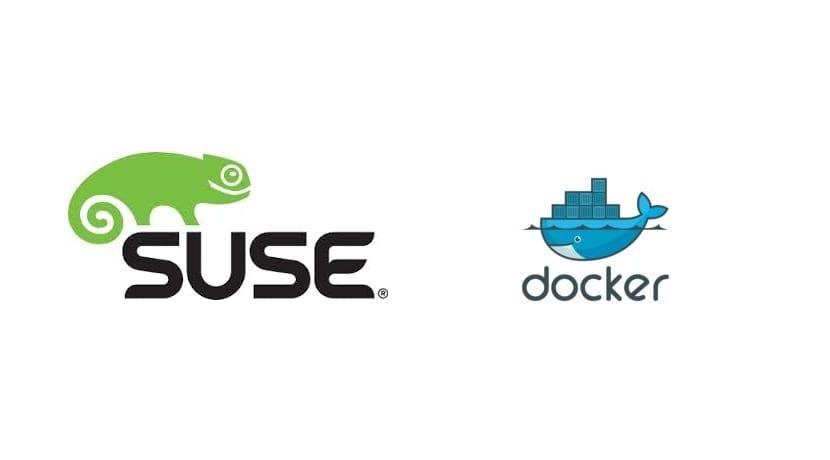 Suse y Docker logos