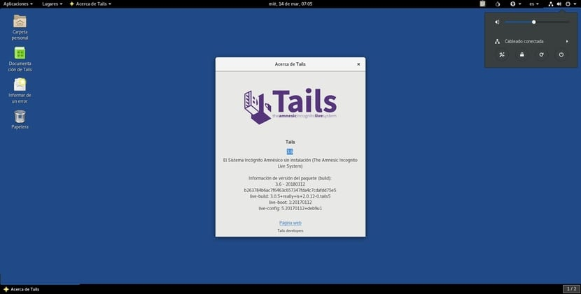 TAILS 3.6 captura de pantalla