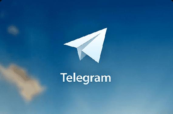Fondo con logo de Telegram
