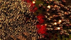 Captura de They Are Billions con cientos de zombies atacando a los soldados