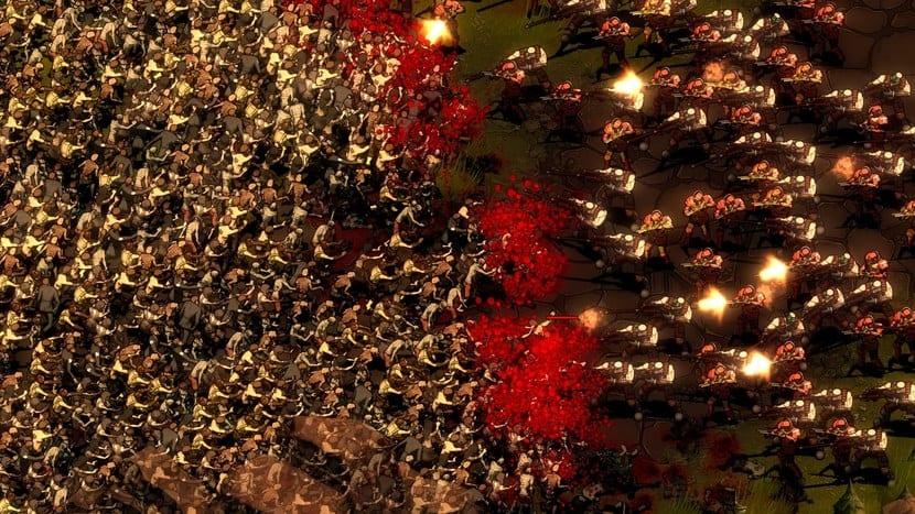 Captura de They Are Billions con cientos de zombies atacando a los soldados