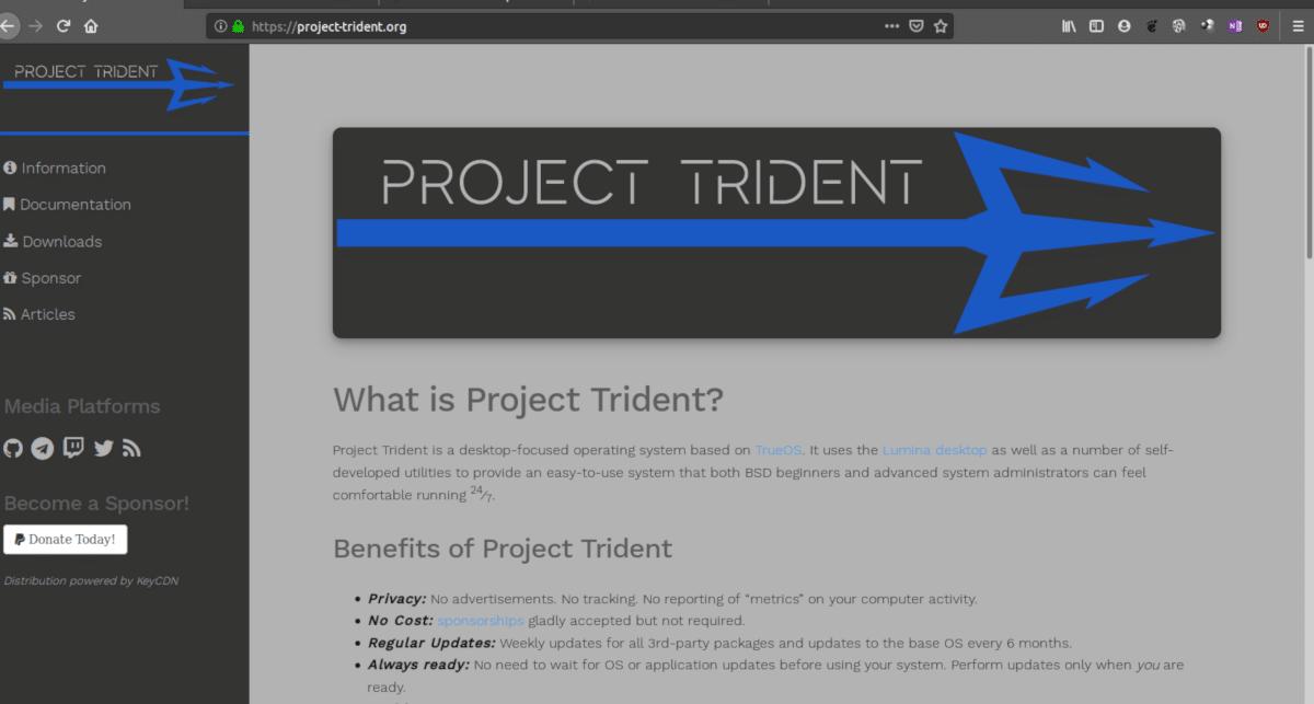 El proyecto Trident estará basado en Linux a partir del 2020