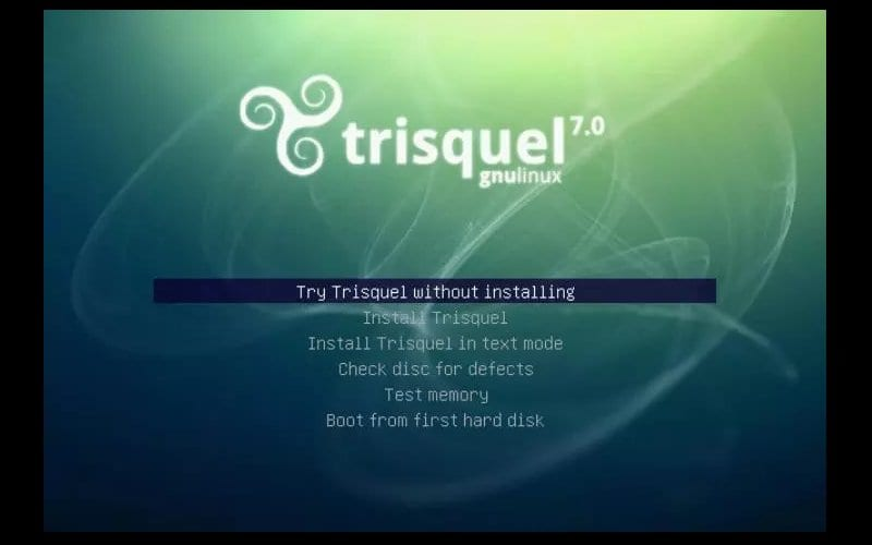 Trisquel 7.0 pantalla instalación