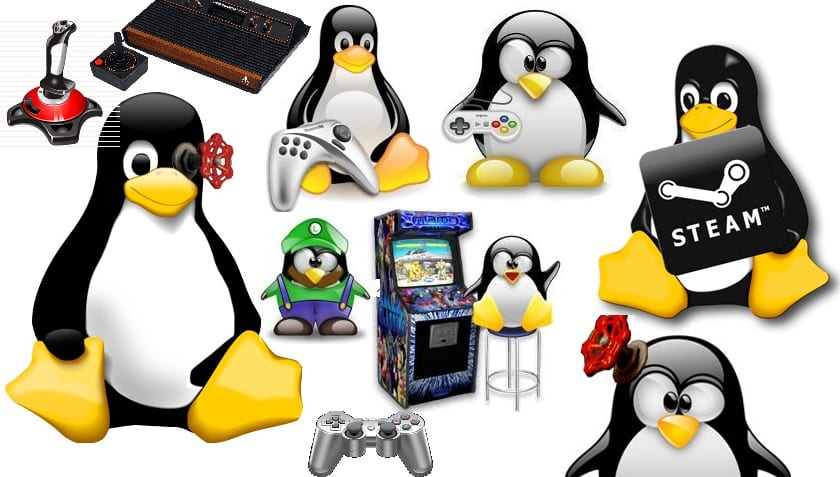 Mascotas Tux relacionadas con videojuegos