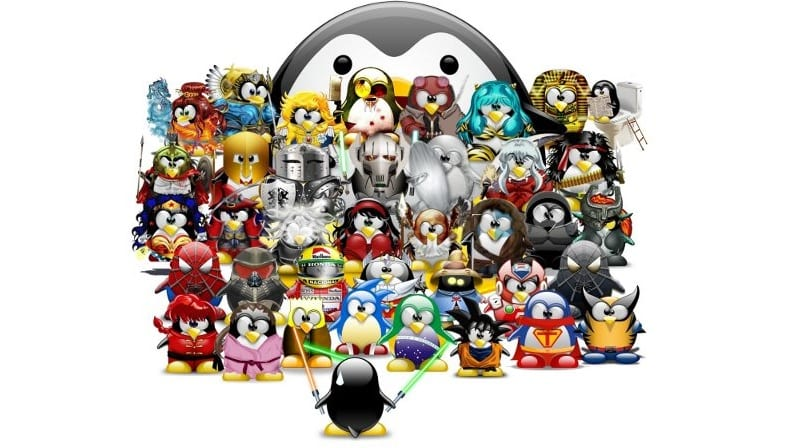 Tux mascotas Linux disfrazadas