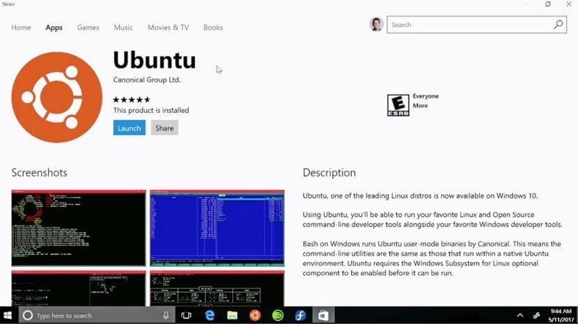 Ubuntu en la Microsoft Store.